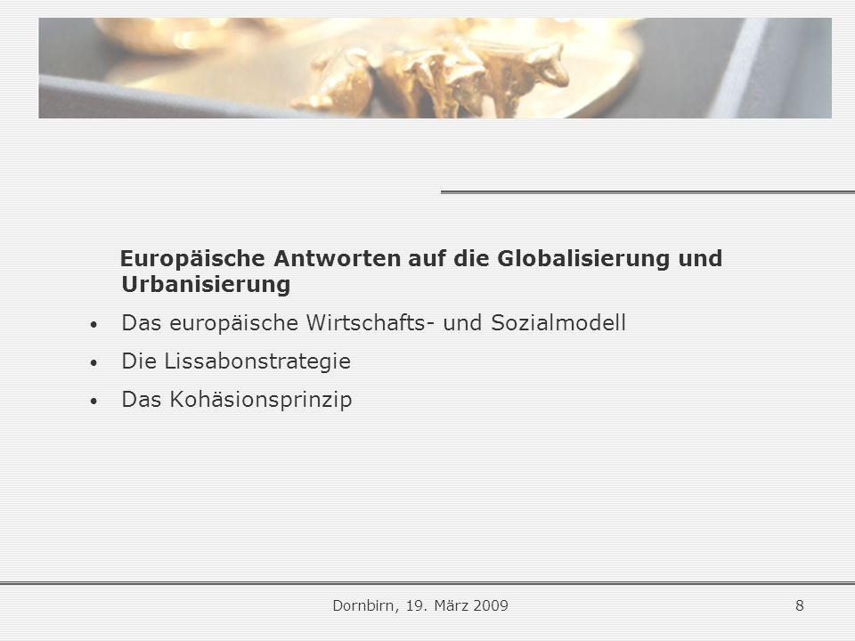 Europäische Antworten auf die Globalisierung und Urbanisierung