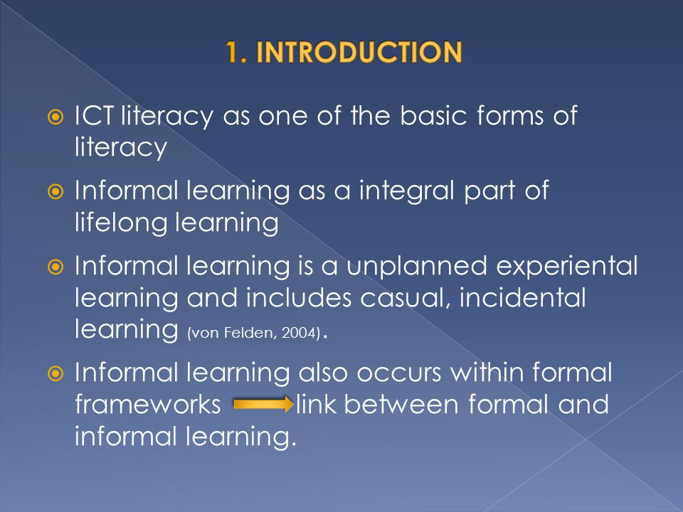 1. INTRODUCTION ICT literacy as one of the basic forms of literacy