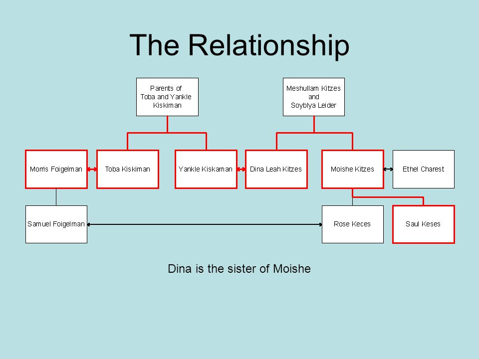 Dina is the sister of Moishe
