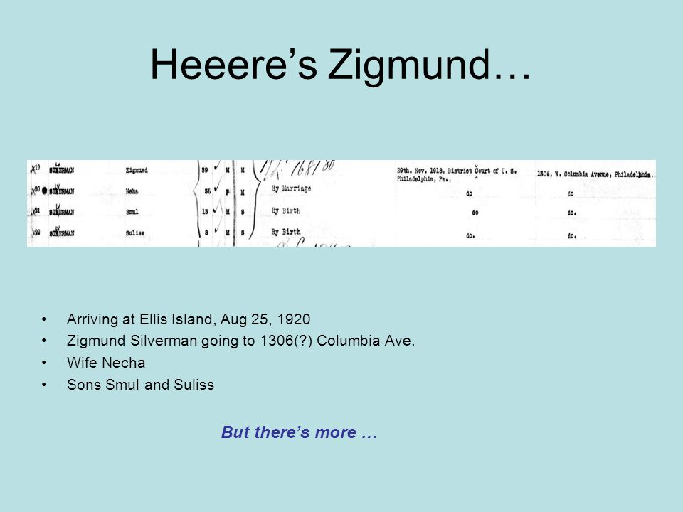 Heeere's Zigmund… But there's more …