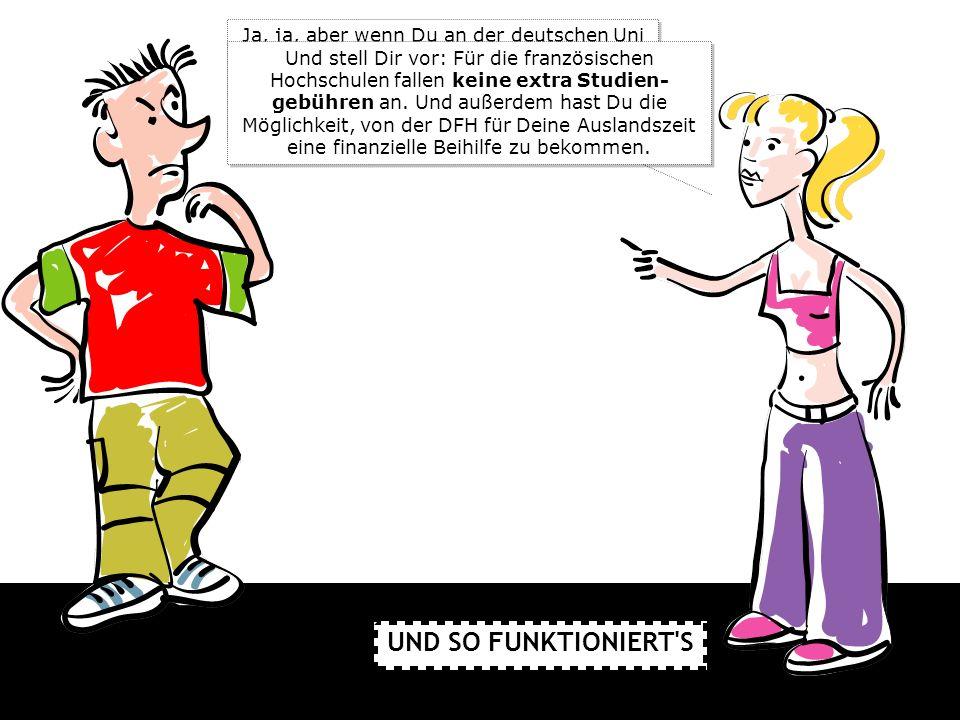 Ja, ja, aber wenn Du an der deutschen Uni oder Fachhochschule für den deutsch-französischen Studiengang angenommen bist, gilt das automatisch auch für die französische Hochschule.