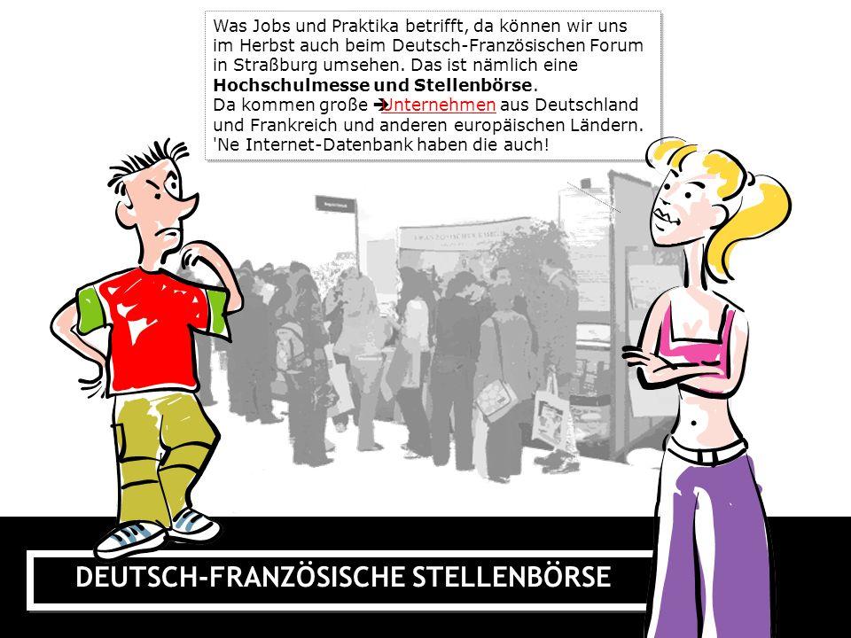 DEUTSCH-FRANZÖSISCHE STELLENBÖRSE