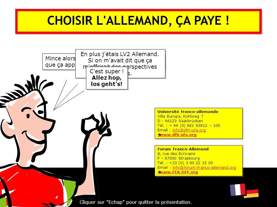 CHOISIR L ALLEMAND, ÇA PAYE !