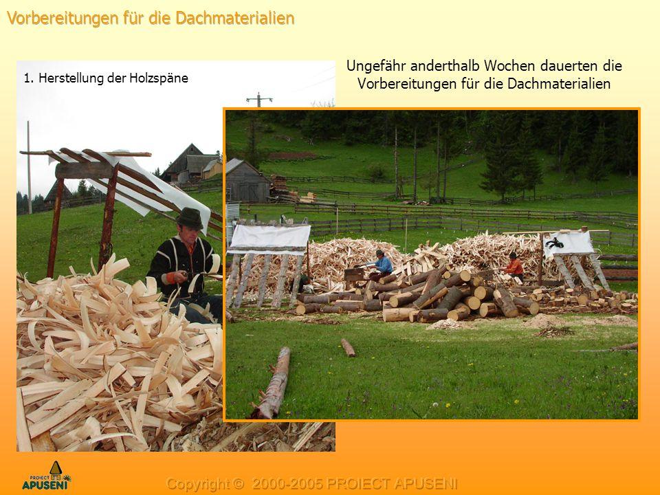 Vorbereitungen für die Dachmaterialien