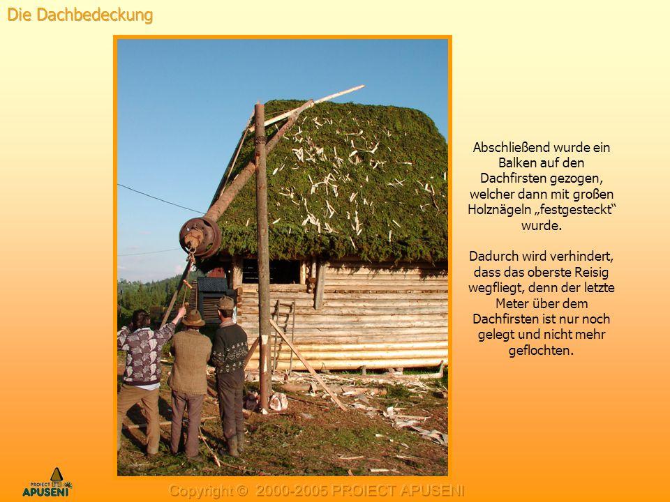 Die Dachbedeckung Copyright © 2000-2005 PROIECT APUSENI