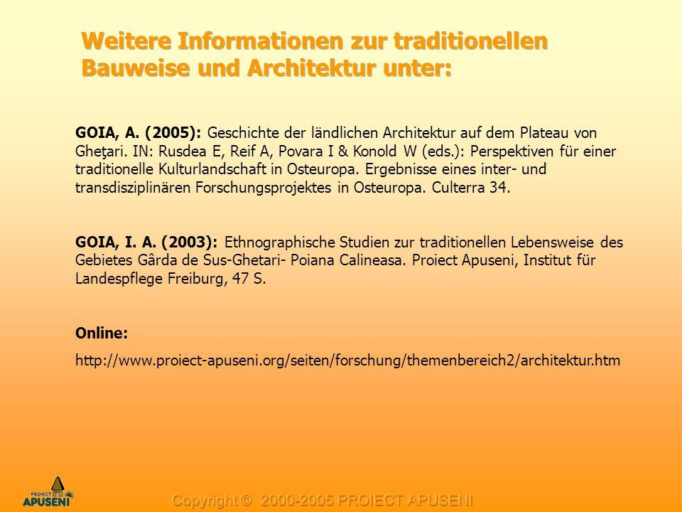 Weitere Informationen zur traditionellen