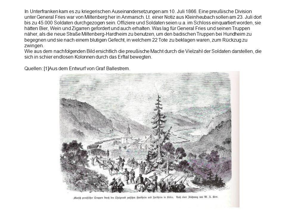In Unterfranken kam es zu kriegerischen Auseinandersetzungen am 10