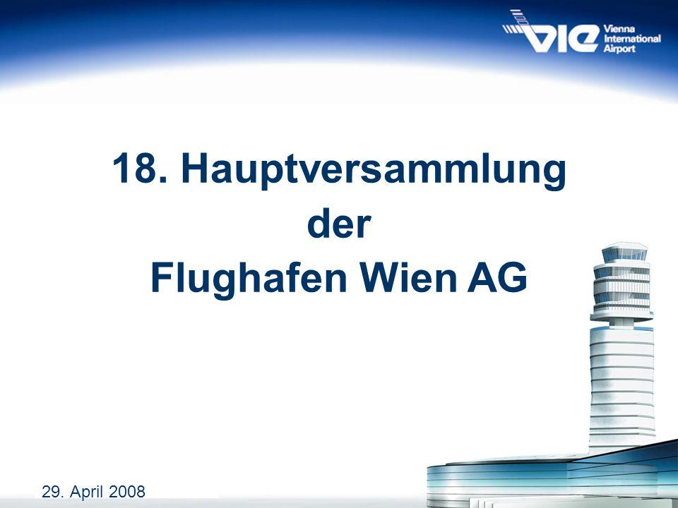 18. Hauptversammlung der Flughafen Wien AG