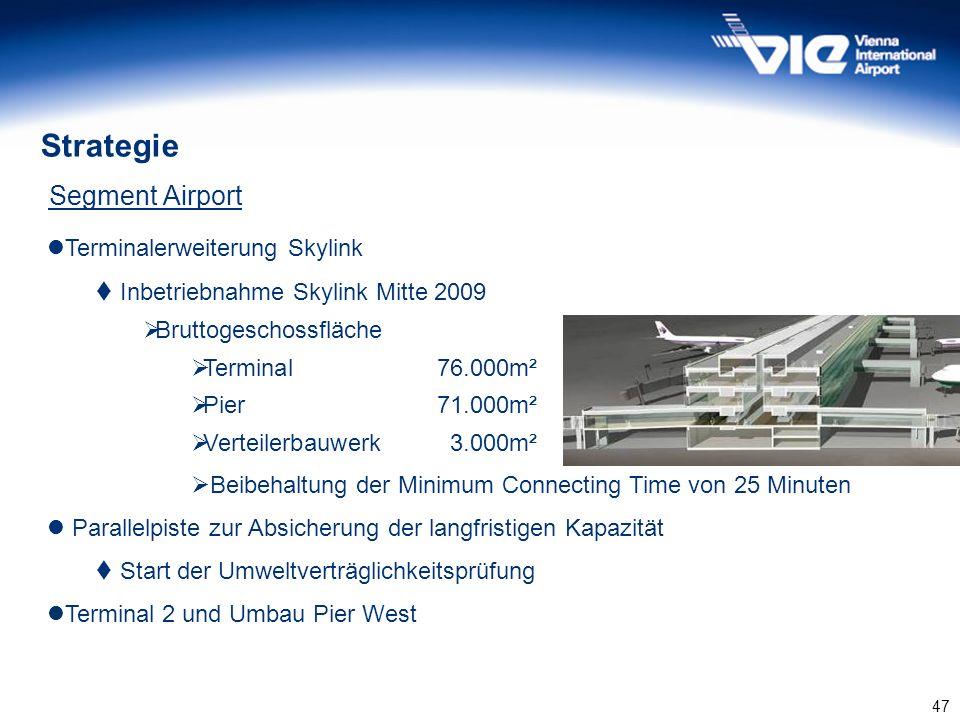 Strategie Segment Airport Terminalerweiterung Skylink