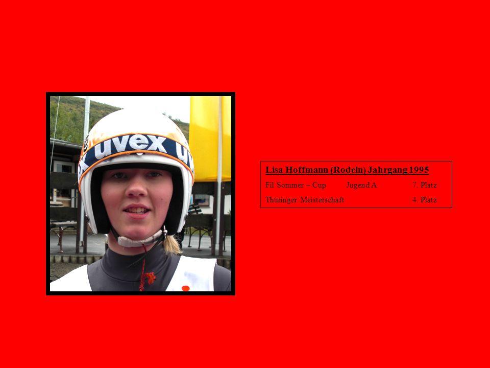 Lisa Hoffmann (Rodeln) Jahrgang 1995