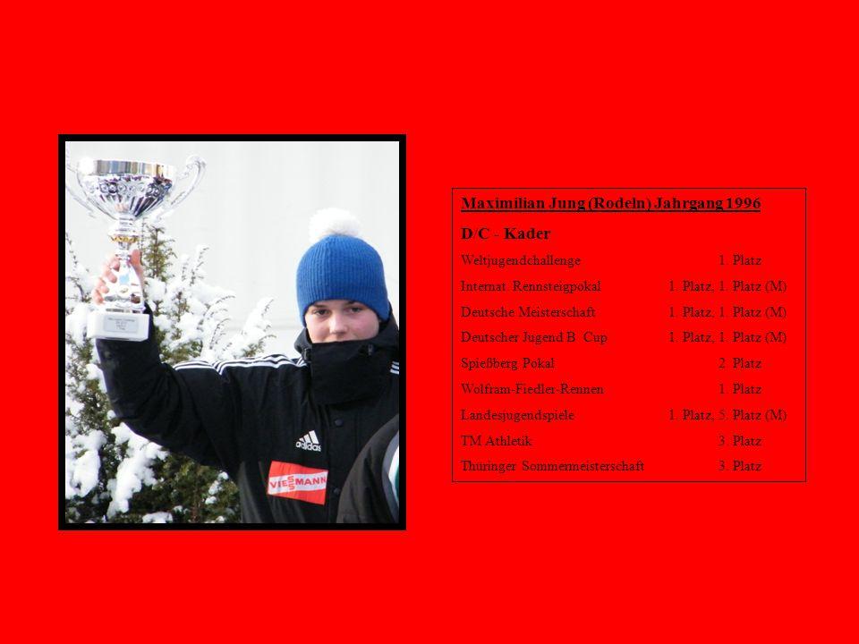 Maximilian Jung (Rodeln) Jahrgang 1996 D/C - Kader