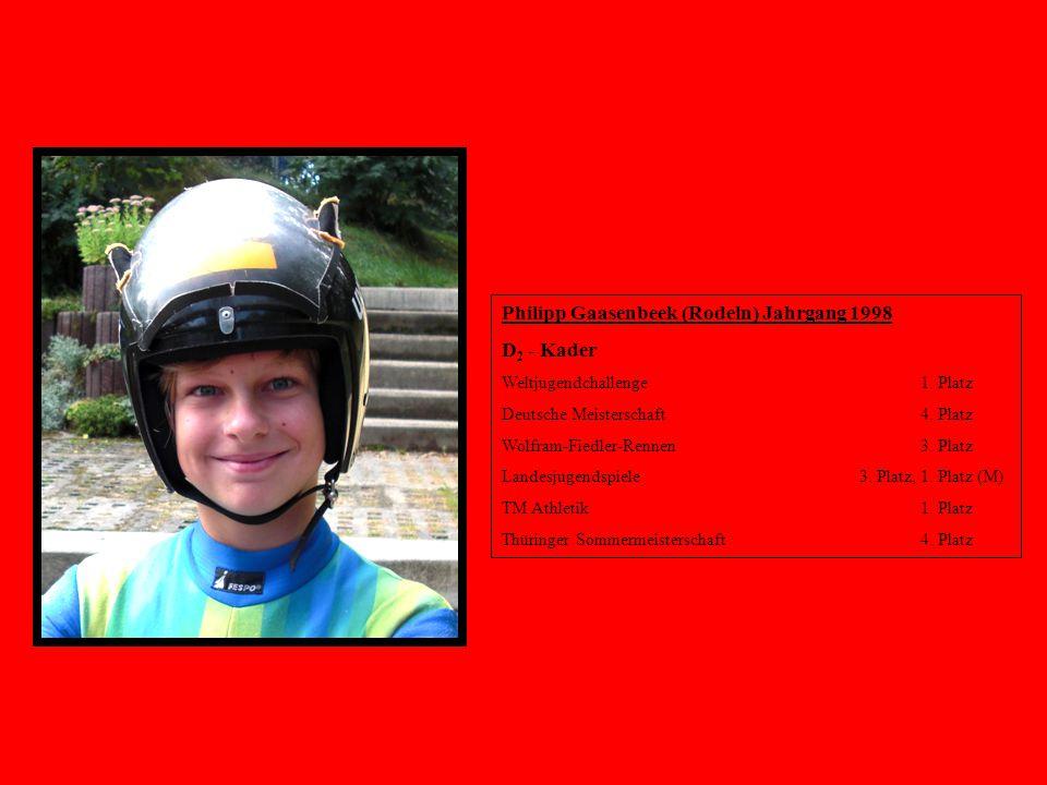 Philipp Gaasenbeek (Rodeln) Jahrgang 1998 D2 - Kader