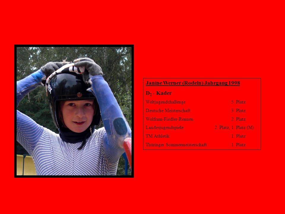 Janine Werner (Rodeln) Jahrgang 1998 D2 - Kader