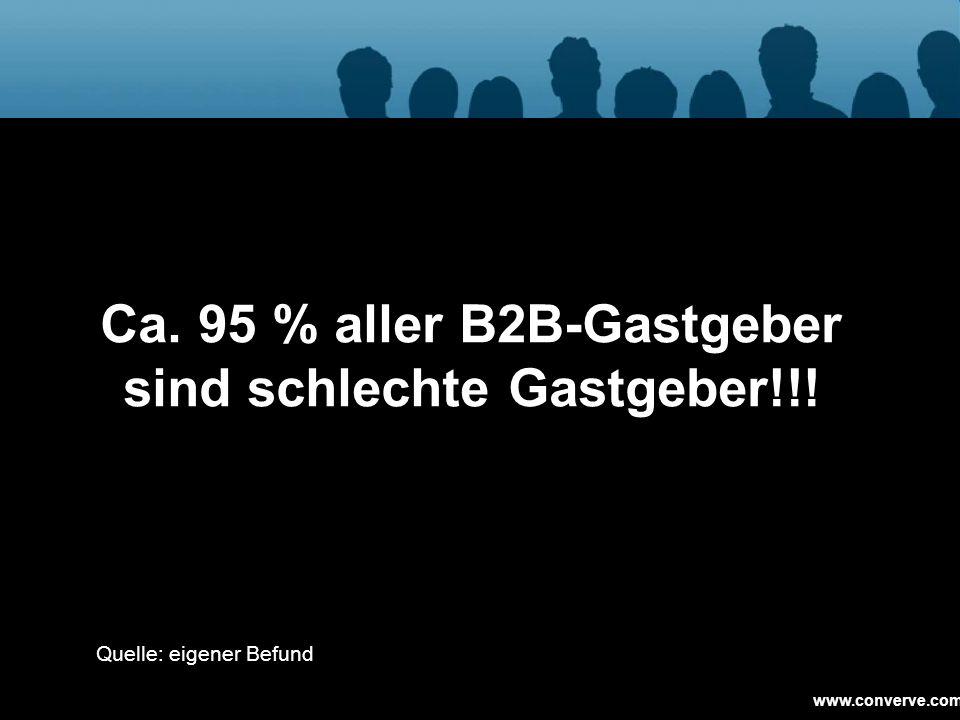Ca. 95 % aller B2B-Gastgeber sind schlechte Gastgeber!!!