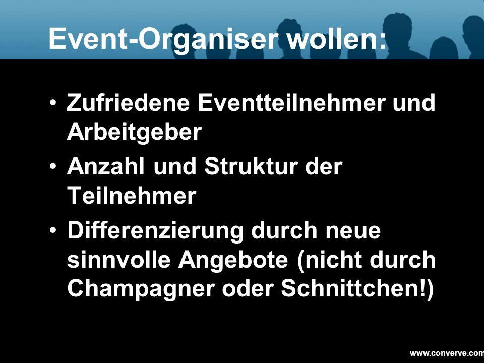Event-Organiser wollen: