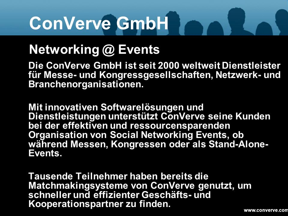 ConVerve GmbH Networking @ Events