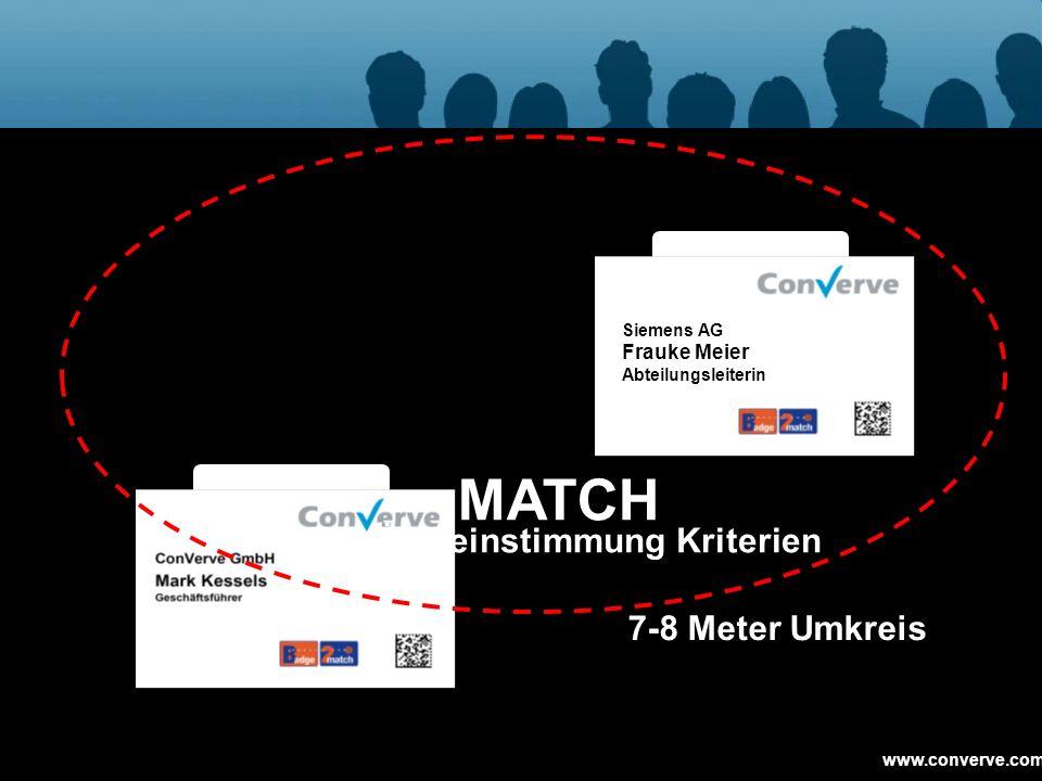MATCH Match ≥ 60 % Übereinstimmung Kriterien 7-8 Meter Umkreis