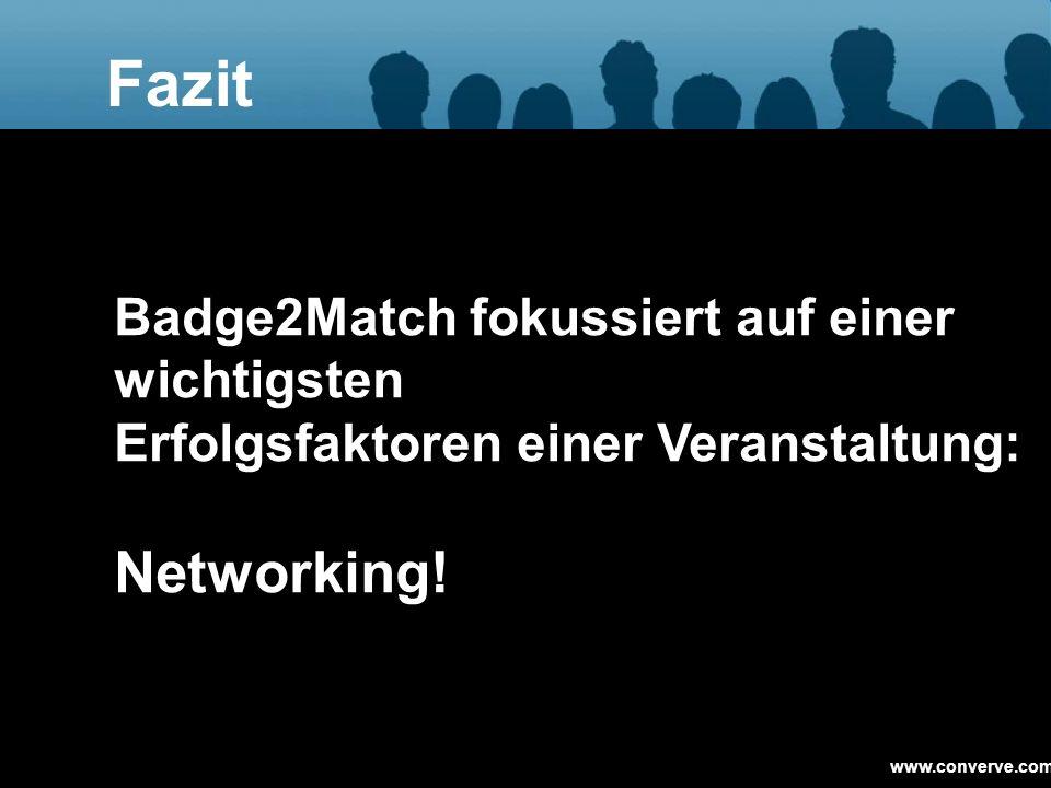 Fazit Badge2Match fokussiert auf einer wichtigsten Erfolgsfaktoren einer Veranstaltung: Networking!