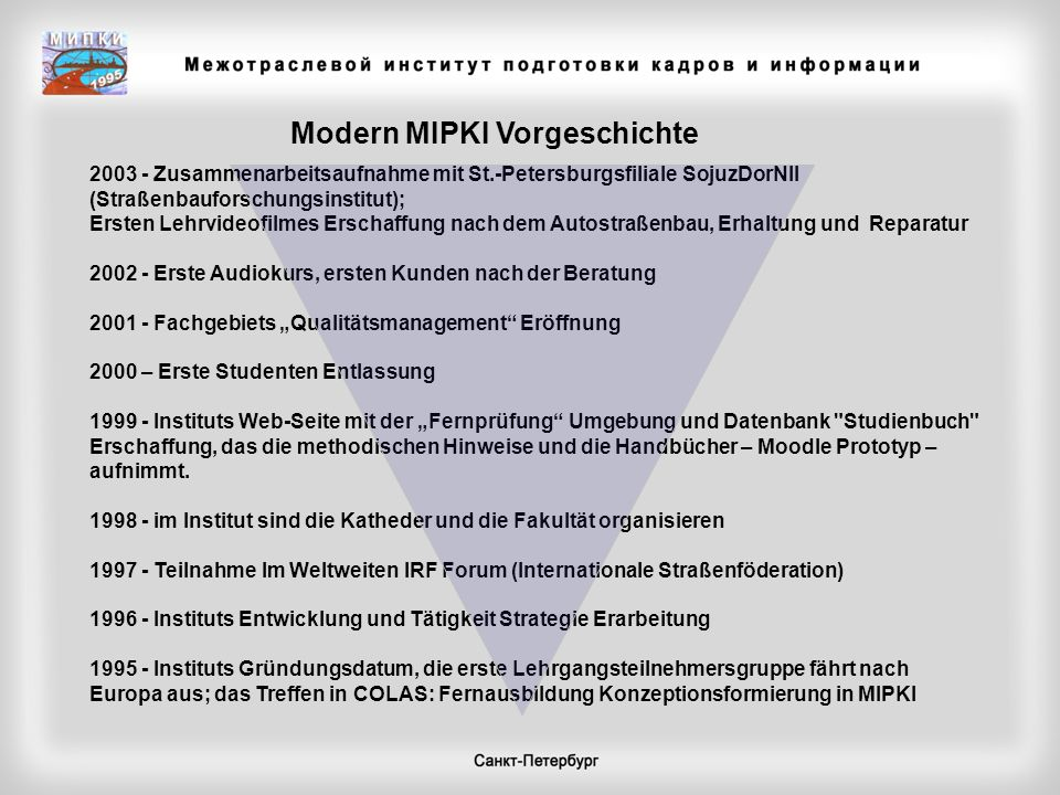Modern MIPKI Vorgeschichte