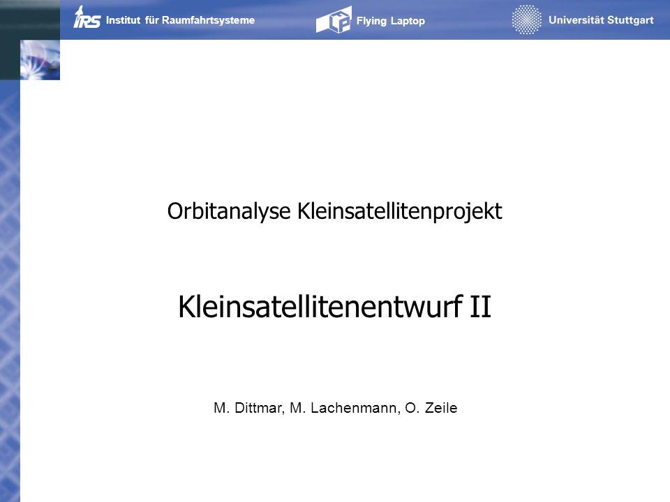 Orbitanalyse Kleinsatellitenprojekt