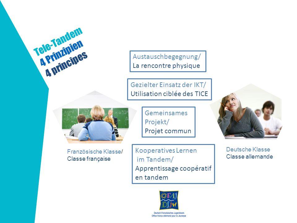 Tele-Tandem 4 Prinzipien 4 principes Austauschbegegnung/