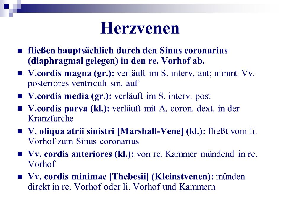 Fein Herzvenen Ideen - Anatomie Ideen - finotti.info