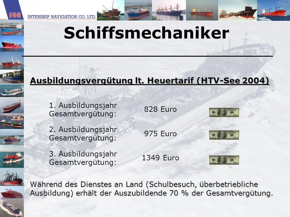 Schiffsmechaniker Ausbildungsvergütung lt. Heuertarif (HTV-See 2004)
