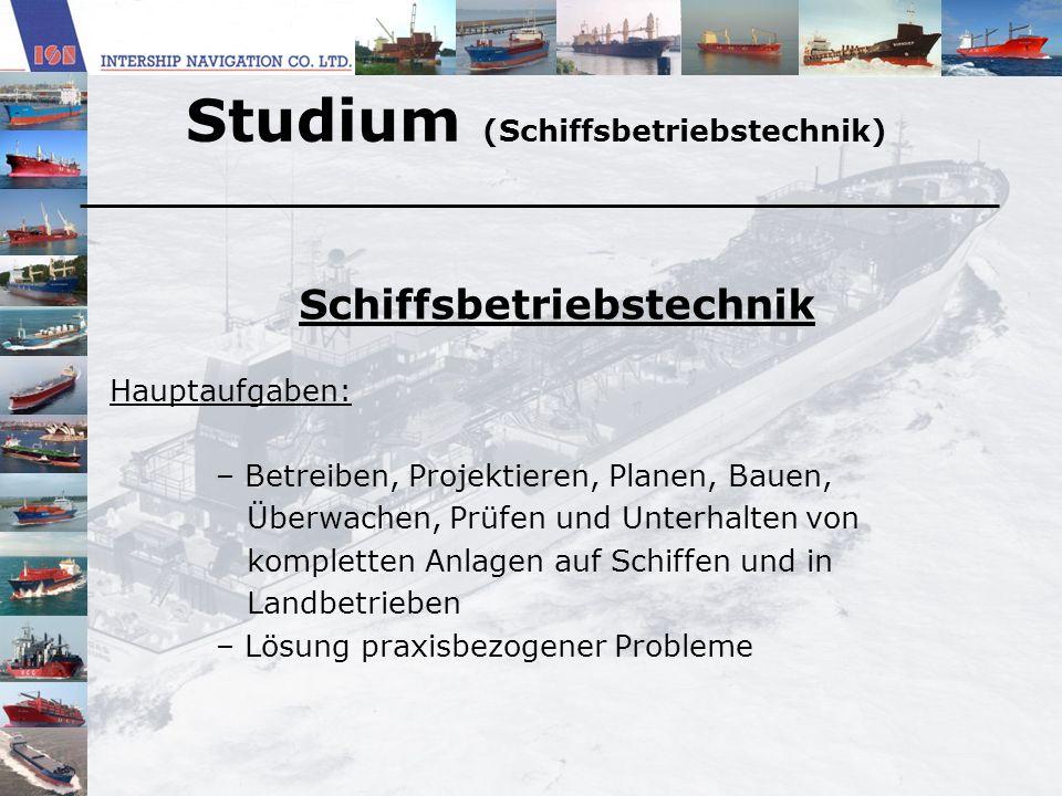 Studium (Schiffsbetriebstechnik)
