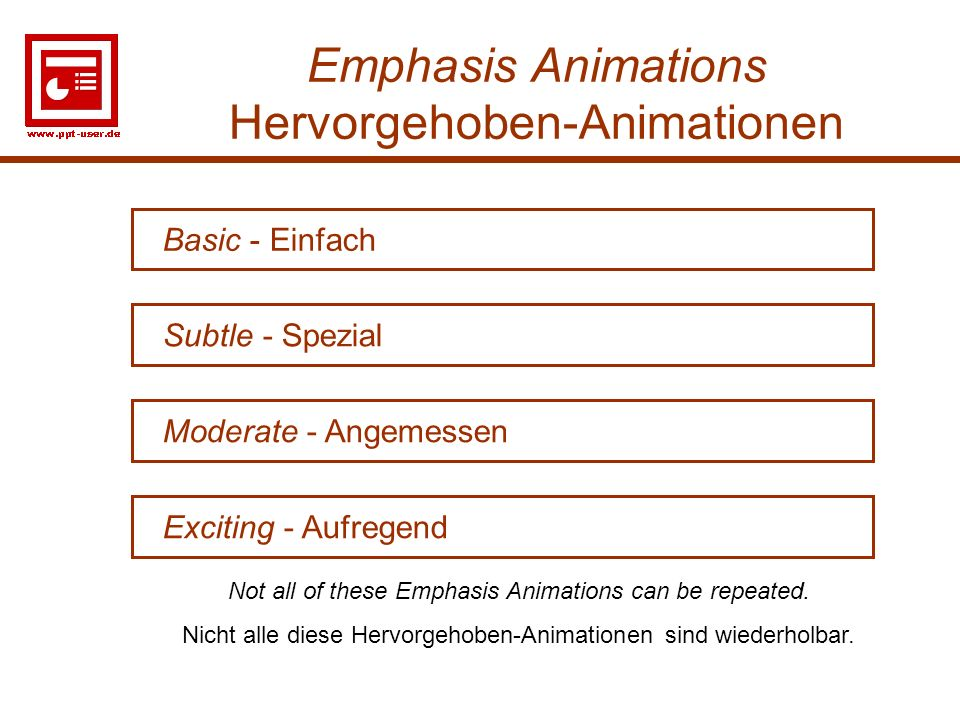 Emphasis Animations Hervorgehoben-Animationen