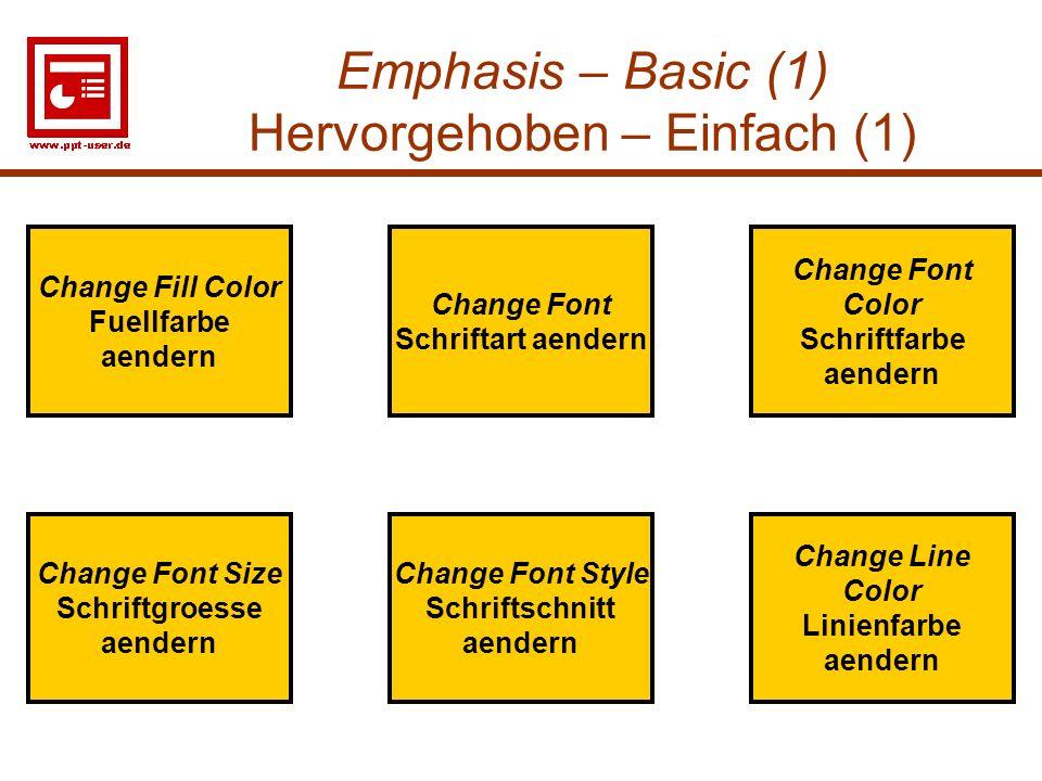 Emphasis – Basic (1) Hervorgehoben – Einfach (1)