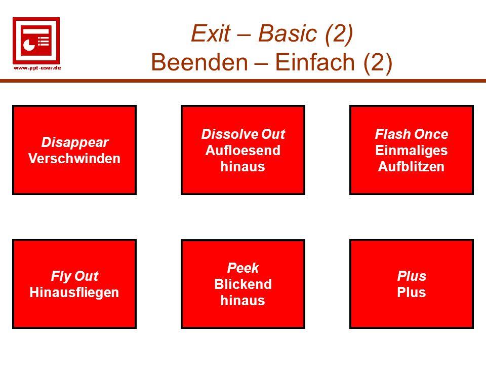 Exit – Basic (2) Beenden – Einfach (2)
