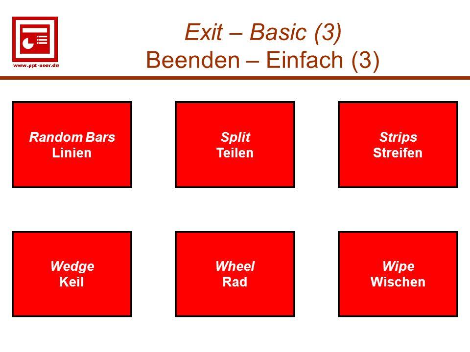 Exit – Basic (3) Beenden – Einfach (3)