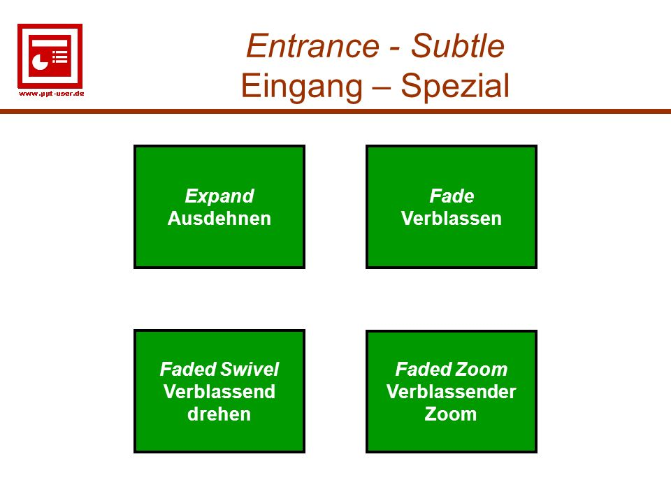 Entrance - Subtle Eingang – Spezial