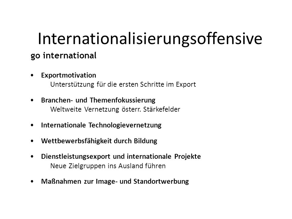 Internationalisierungsoffensive