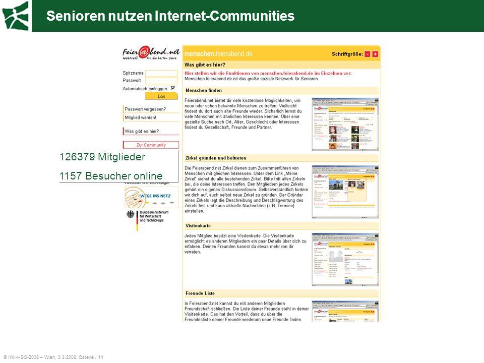 Senioren nutzen Internet-Communities