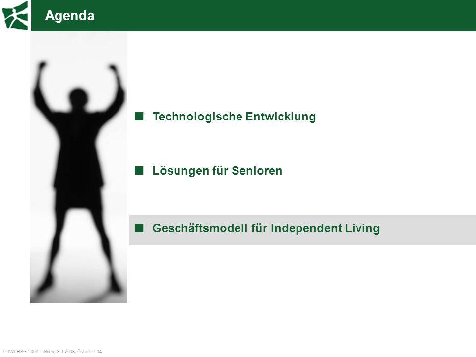 Agenda Technologische Entwicklung Lösungen für Senioren