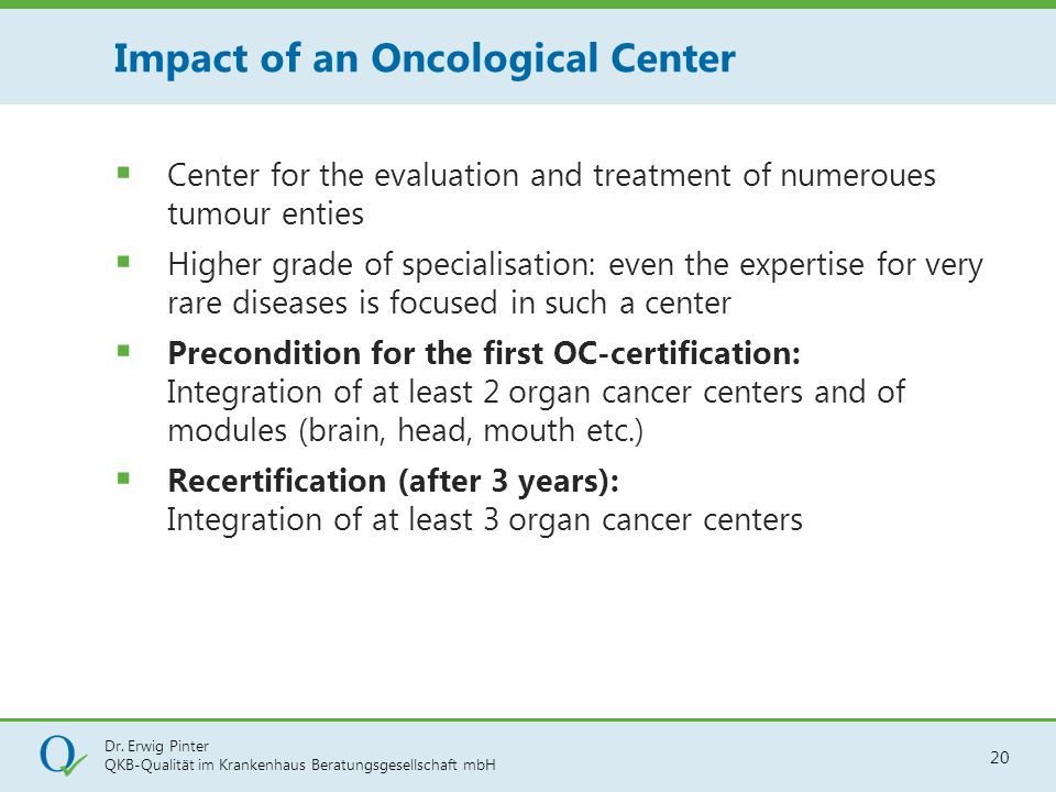 Impact of an Oncological Center