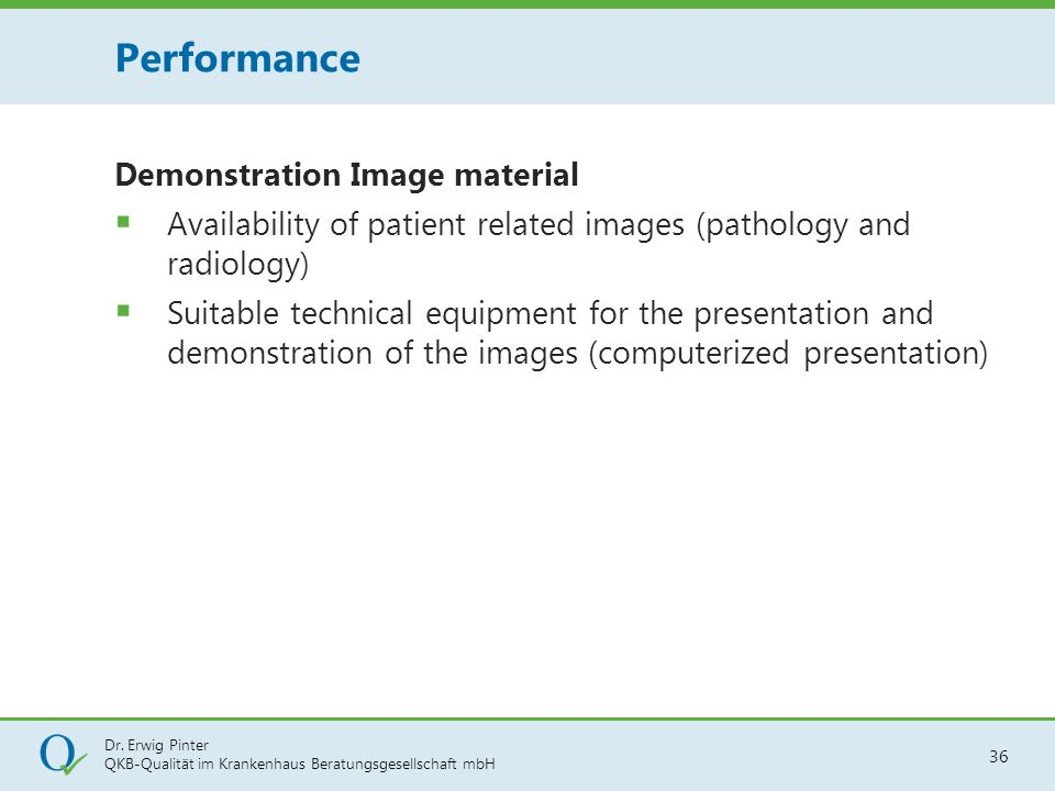 Performance Demonstration Image material