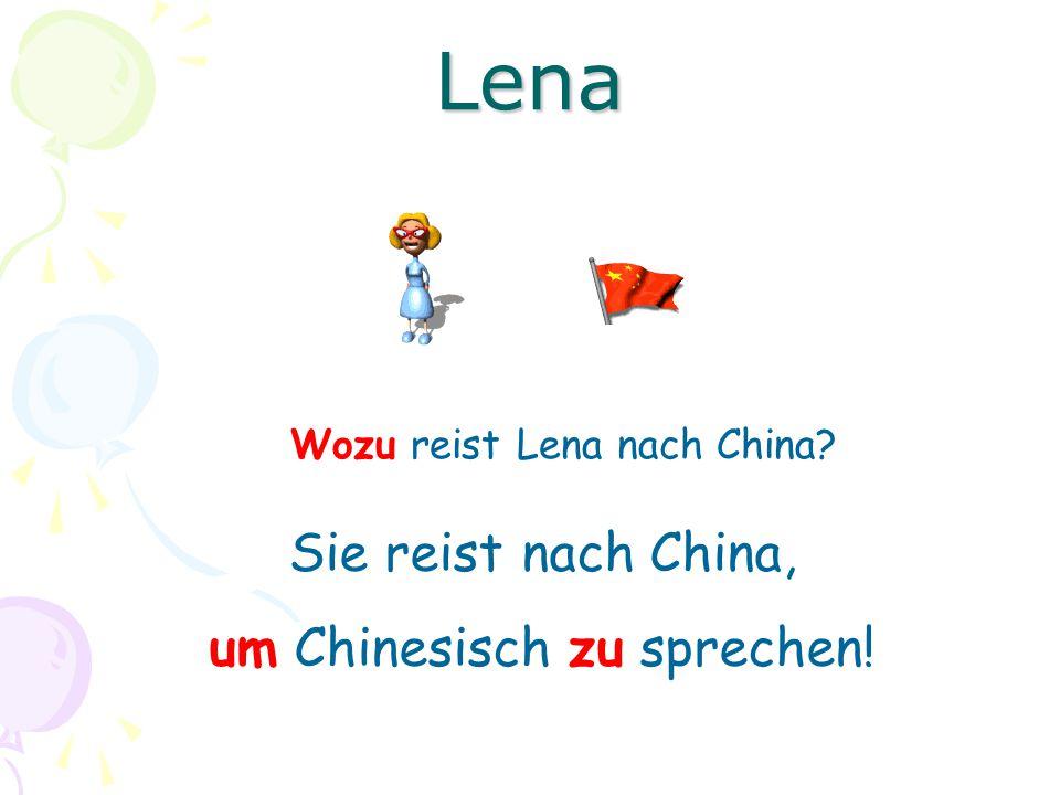Lena Sie reist nach China, um Chinesisch zu sprechen!