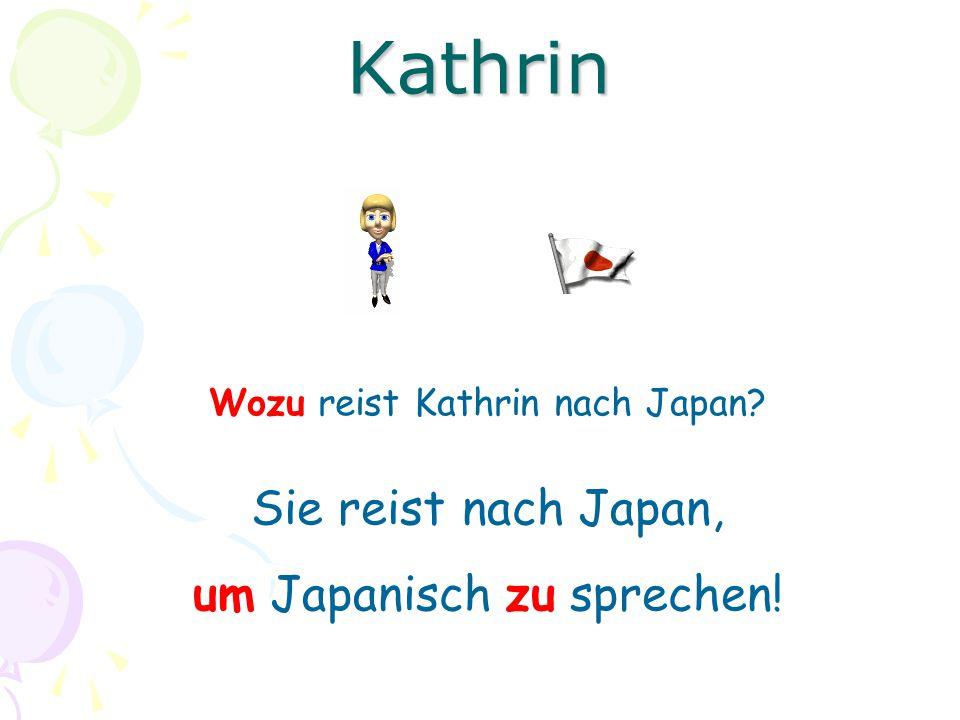 Kathrin Sie reist nach Japan, um Japanisch zu sprechen!