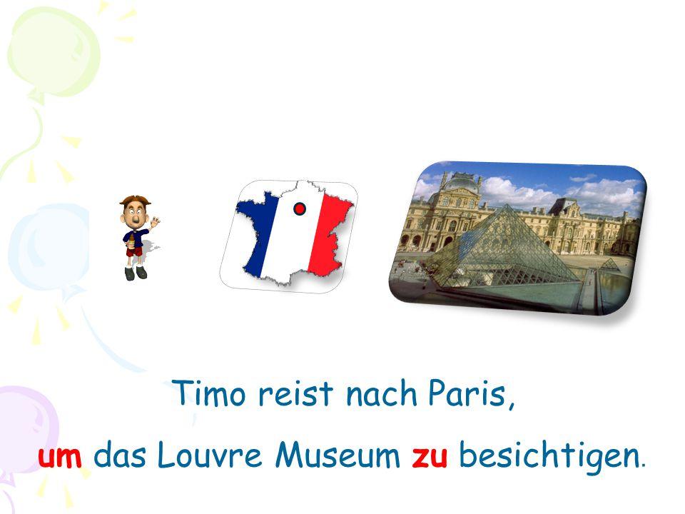um das Louvre Museum zu besichtigen.