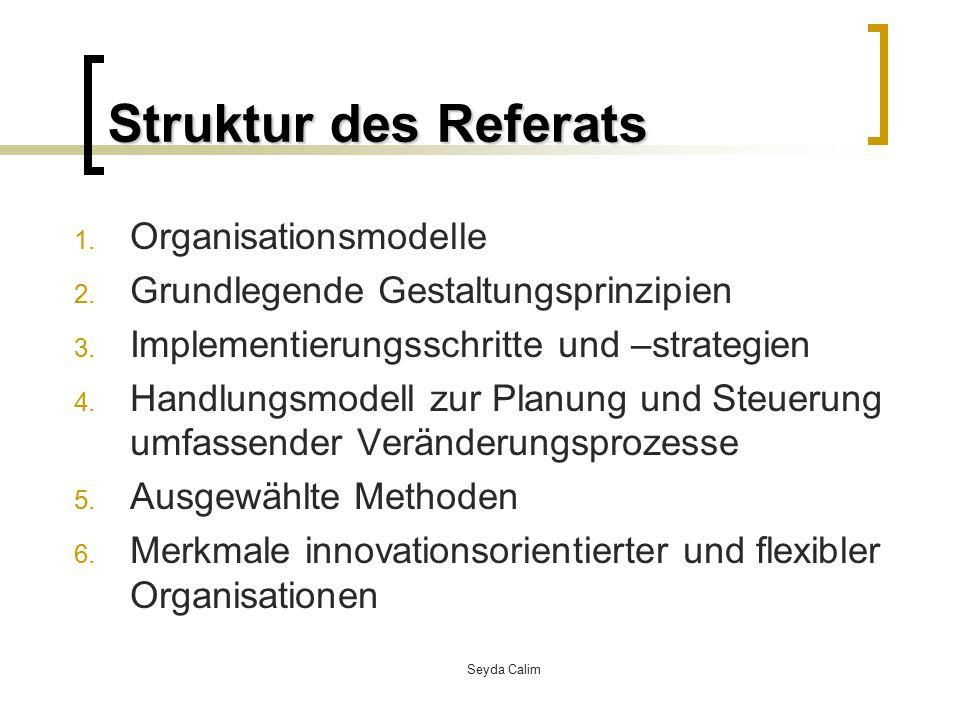 Struktur des Referats Organisationsmodelle