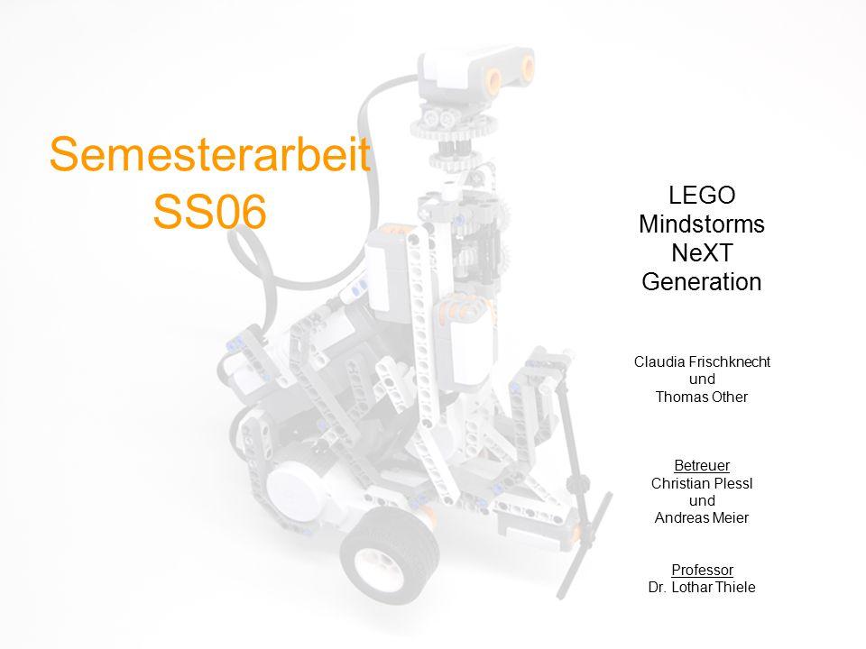 Semesterarbeit SS06 LEGO Mindstorms NeXT Generation