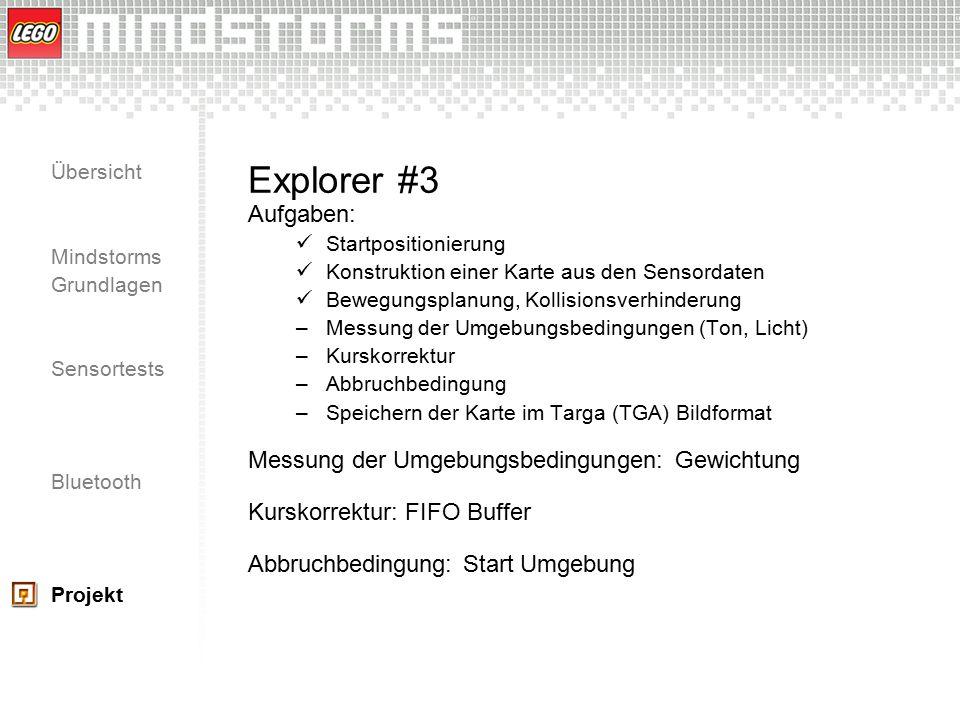 Explorer #3 Aufgaben: Messung der Umgebungsbedingungen: Gewichtung