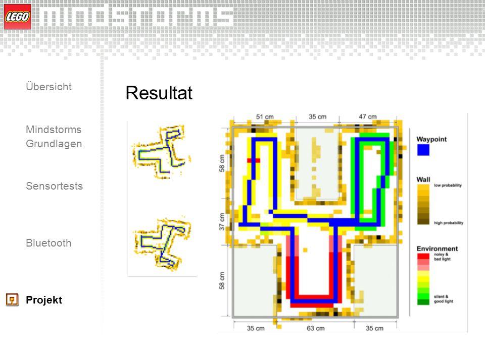Übersicht Mindstorms Grundlagen Sensortests Bluetooth Projekt