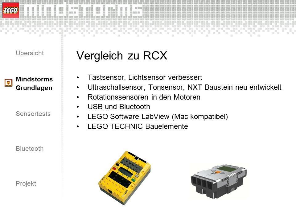 Vergleich zu RCX Tastsensor, Lichtsensor verbessert