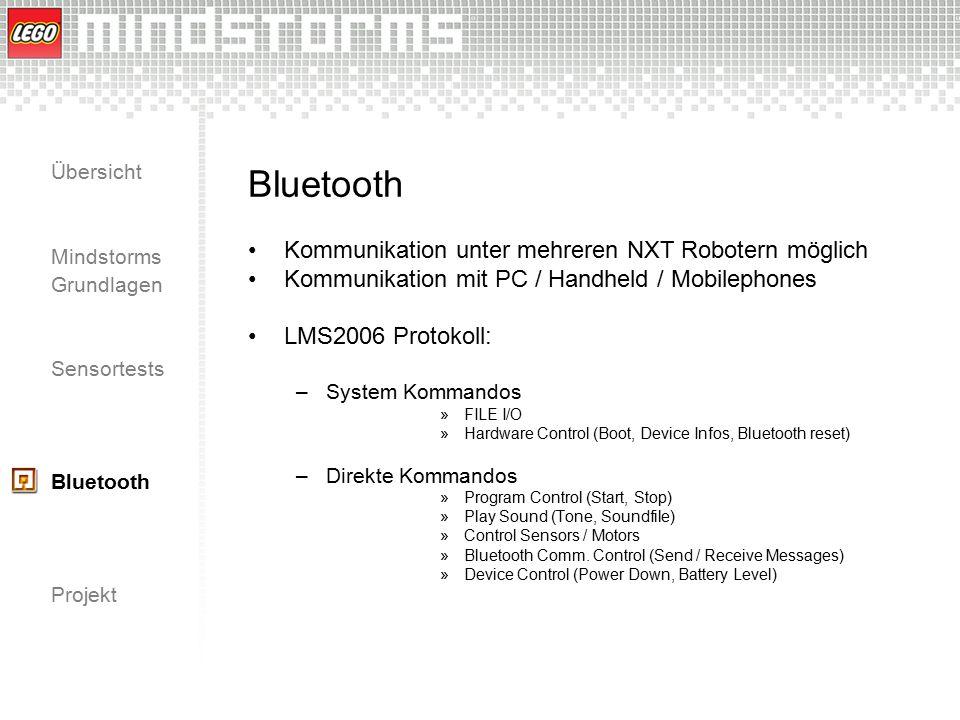 Bluetooth Kommunikation unter mehreren NXT Robotern möglich