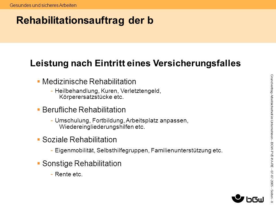 Rehabilitationsauftrag der b