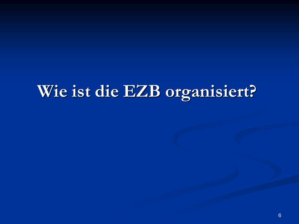 Wie ist die EZB organisiert