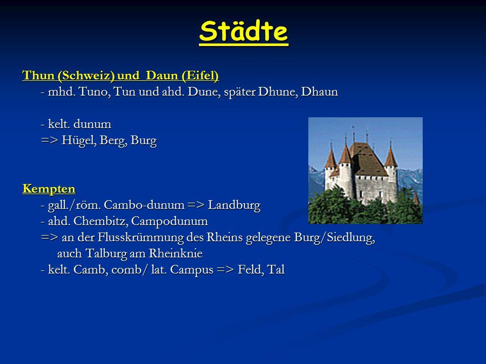 Städte Thun (Schweiz) und Daun (Eifel)